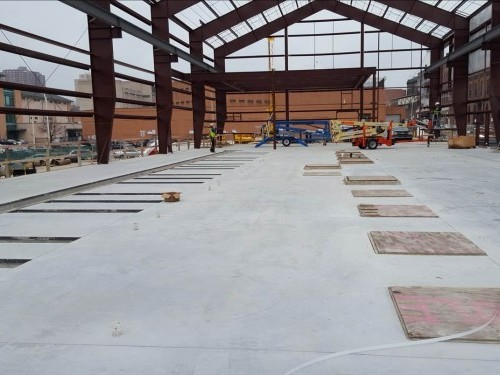 The top of the PENETRON ADMIX-treated concrete structure, with a view of Baltimore's nearby neighborhoods