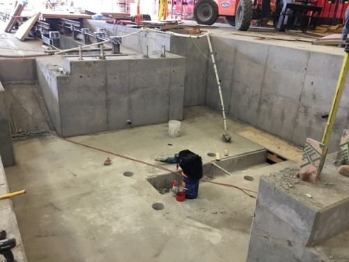 The pour is done and the new PENETRON – treated MTS wheel truing pit is dry and durable – quicker and more cost- effective than the originally specified membrane.