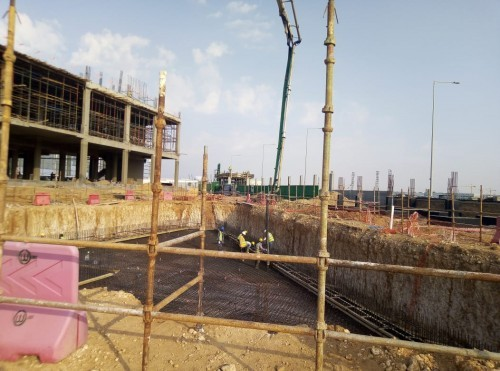 PENETRON ADMIX treated the foundation slabs and water storage tanks (drinking water and fire-fighting reservoirs) of the NCB project to create durable concrete structures