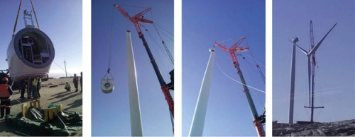 Each of the Ombepo Wind Farm turbines stands 80 m (over 260-feet) tall, with three blades and a single generator, all secured to a PENETRON ADMIX-treated concrete foundation.