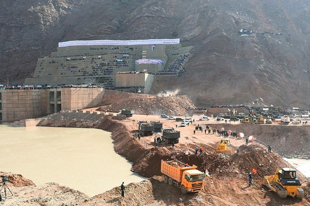 The US$3.9 billion Rogun Hydro project includes an embankment dam, hydraulic tunnels, underground power generators with six turbines (3,600MW capacity) and auxiliary equipment