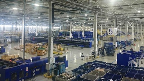 The automated Russian Post Kazan logistics center processes over one million postal items daily. The facility's foundation and basement are treated with PENETRON ADMIX