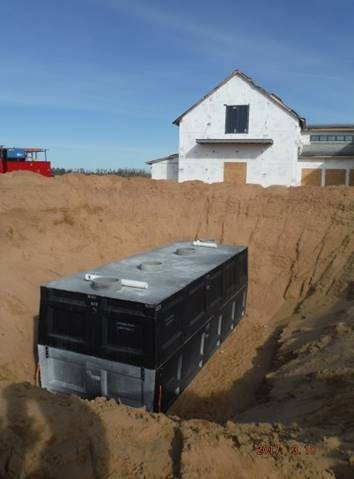 This pre-cast 10,000-gallon concrete water tank for the Sand Valley fire prevention system was treated with PENETRON ADMIX and is impermeable to water.