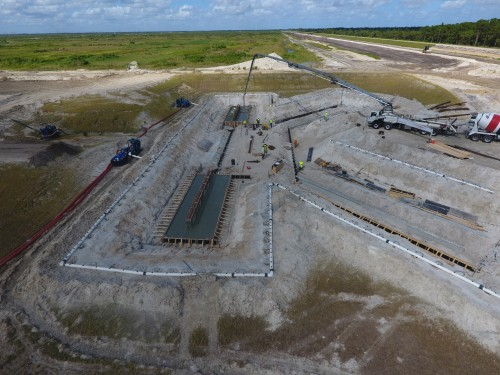 Another view of a C-44 reservoir pump station in the Everglades that pumps water to a storm water treatment area, helping to reduce the number of high flow events.