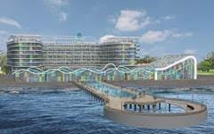 This artist rendering of the Shekvetili Five Star Hotel in Georgia shows the hotel's seaside environment that makes PENETRON crystalline technology a must
